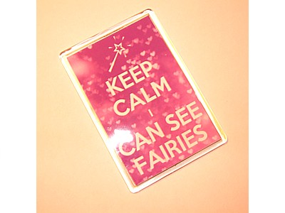 Keep Calm I can See Fairies Magnet